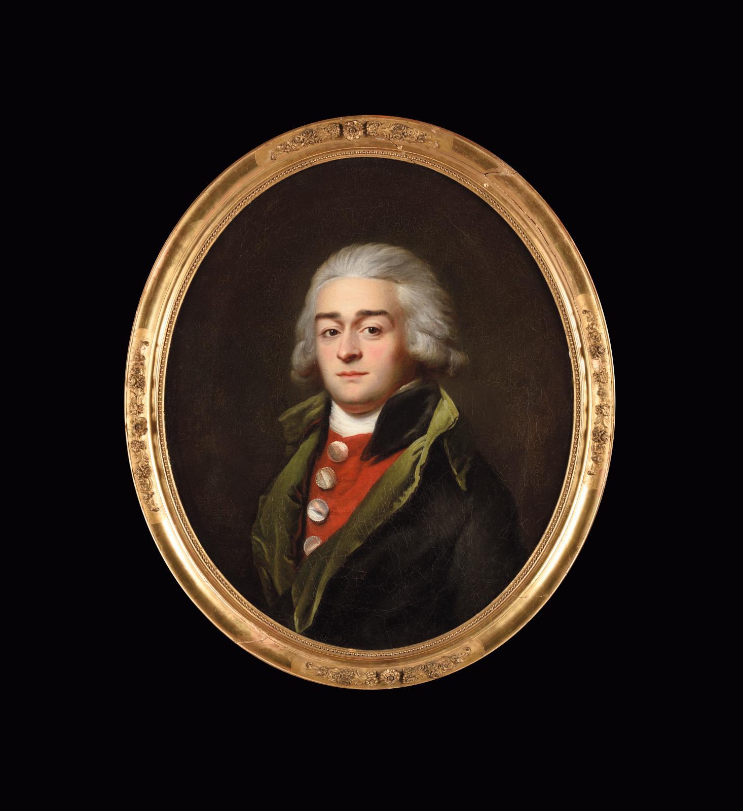 Adélaïde Labille-Guiard (1749-1803), Portrait présumé de Marie-Jean Hérault deSéchelles(1759-1794), huile sur toile ovale, 65x54cm. F