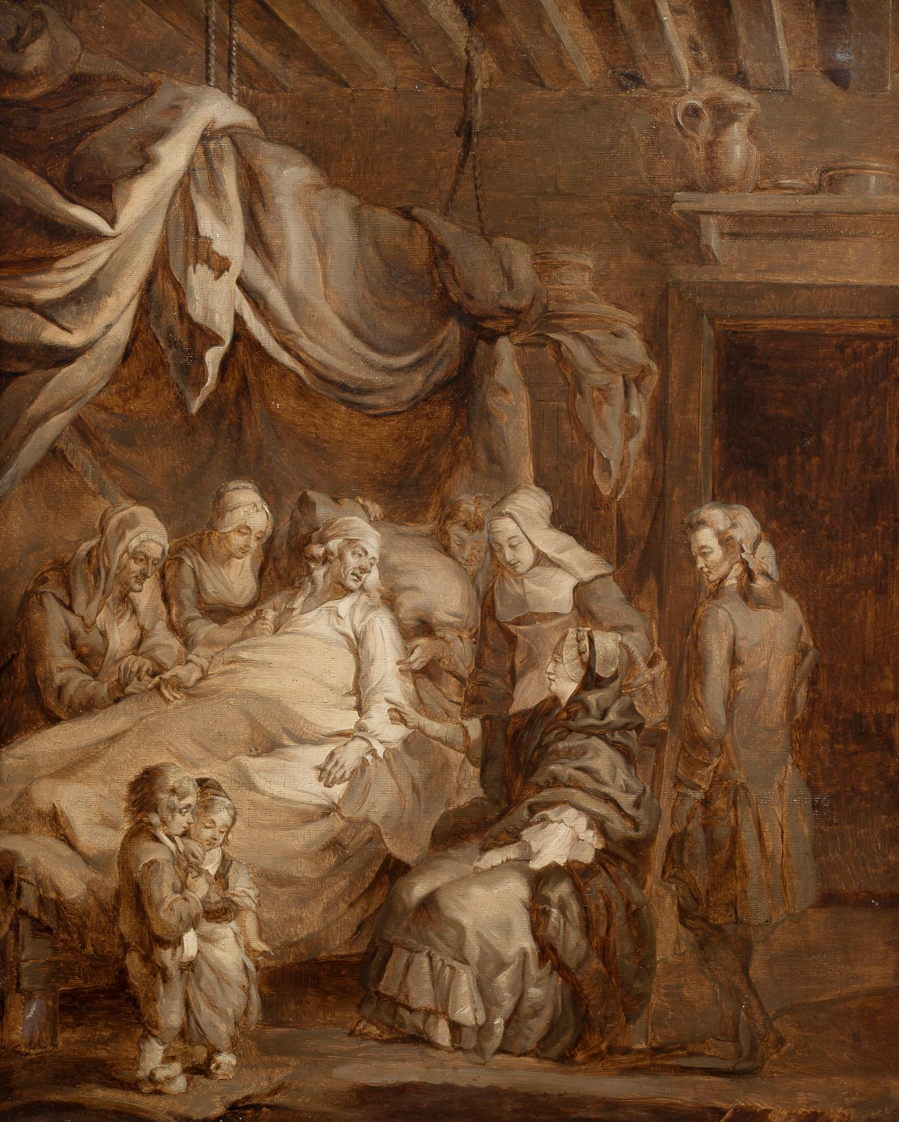 Constance Mayer (1774-1821), La Famille dans la détresse, huile sur toile, 55,5x45,5cm. Drouot, 13 juin 2019. AguttesOVV. M.Millet. A