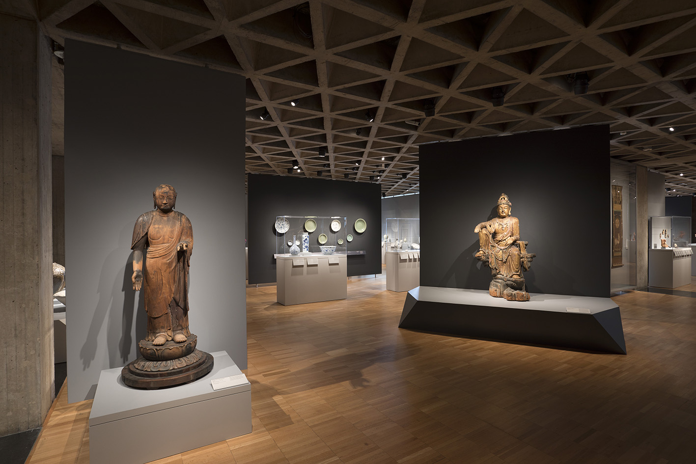 View of the Asian art galleries, Yale University Art Gallery.Photo: Jessica Smolinski
