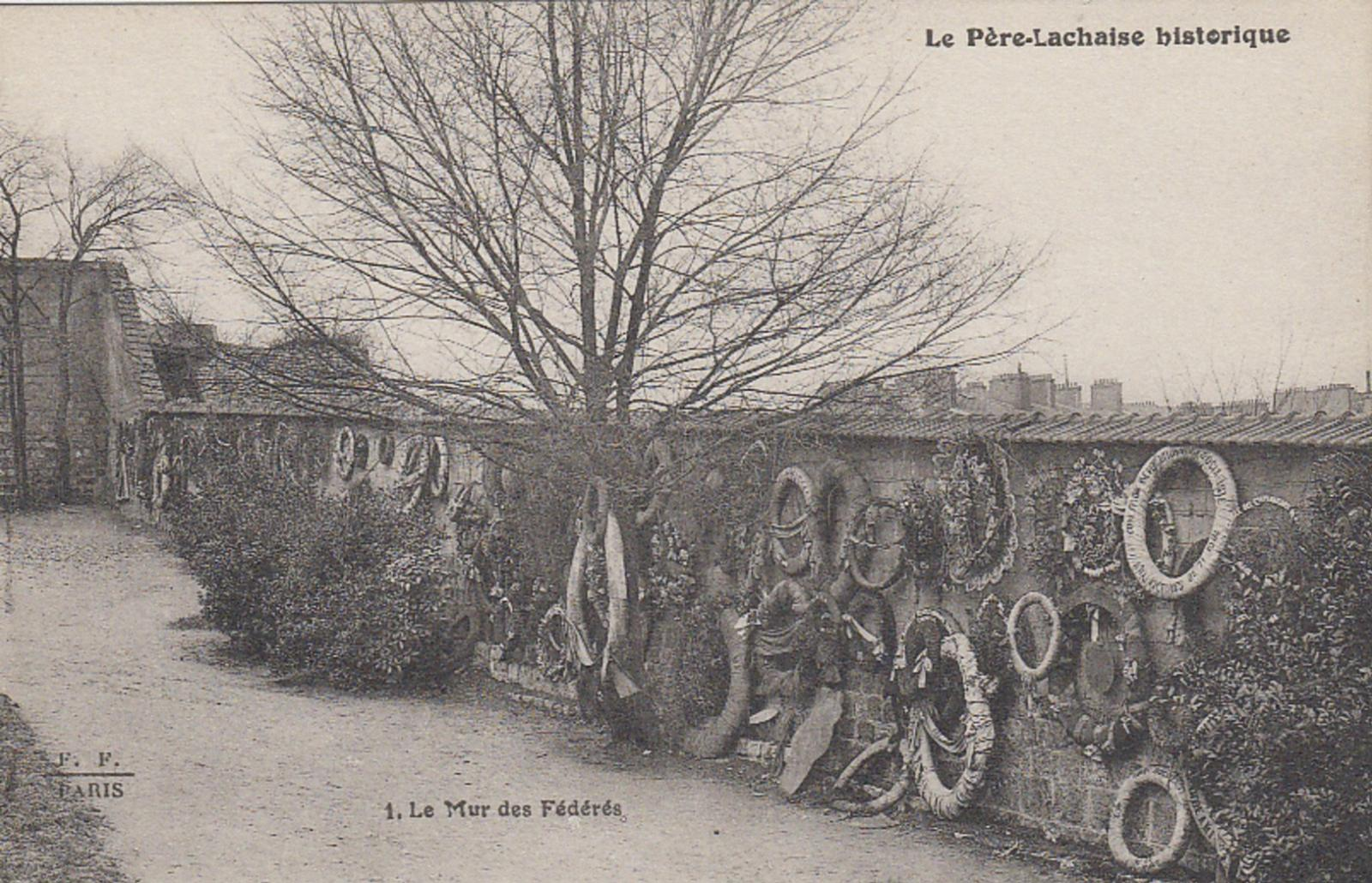 "Fernand Fleury (1874-1916), Postcard of the Communards' Wall in the collection ""Le Père Lachaise historique"" (""Historical Père Lachaise""),"