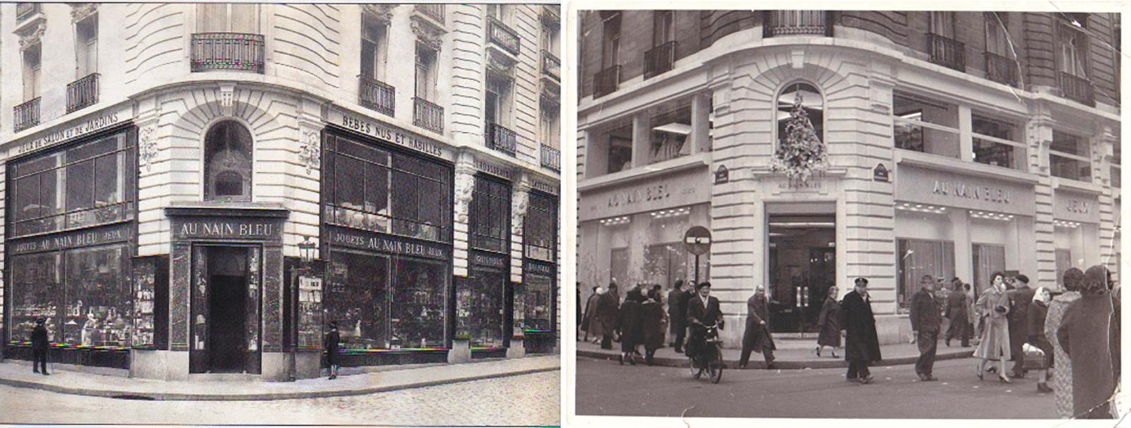 La boutique de la rue Saint-Honoré, avant-guerre et dans les années 1950.
