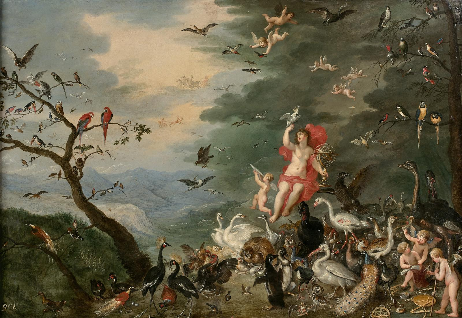 L'Air, attribué à Jan Ier Bruegel, dit le Jeune, 45x67cm .