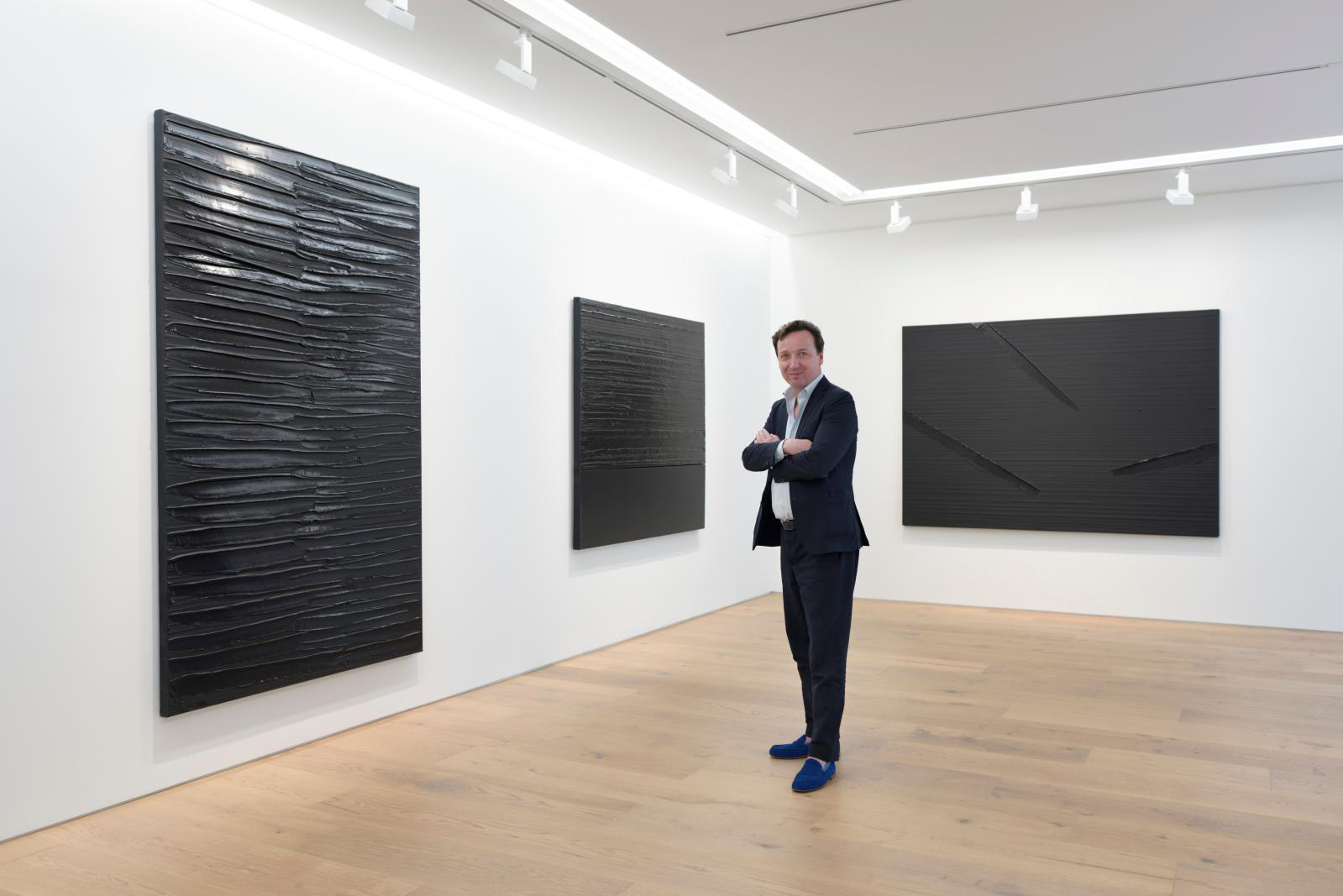 Emmanuel Perrotin at the opening of his Tokyo outpost in 2017.© NACASA