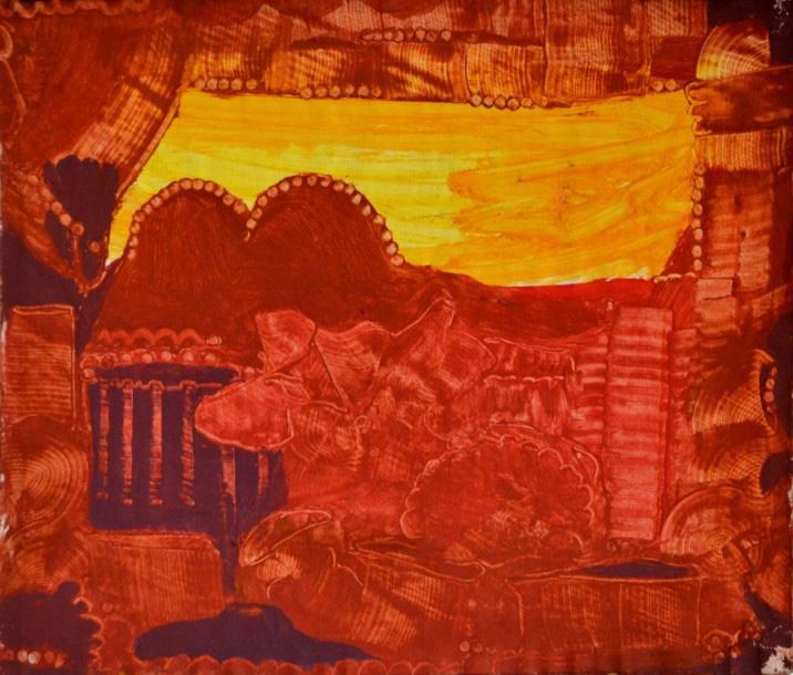 4758€ Eugène Gabritschevsky (1893-1979), Composition, gouache, 53,4x39,5cm. Enghien-les-Bains, 22novembre 2014. Goxe, Belaisch, hôte