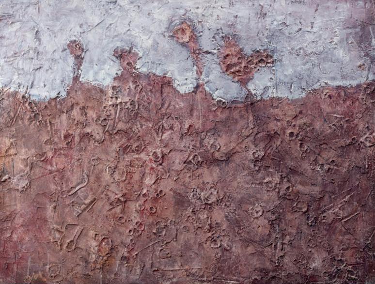 471627€ Jean Dubuffet (1901-1985), Paysage pétrifié, janvier 1952, New York, 1952, huile sur toile contrecollée sur panneau d'Isorel, 92