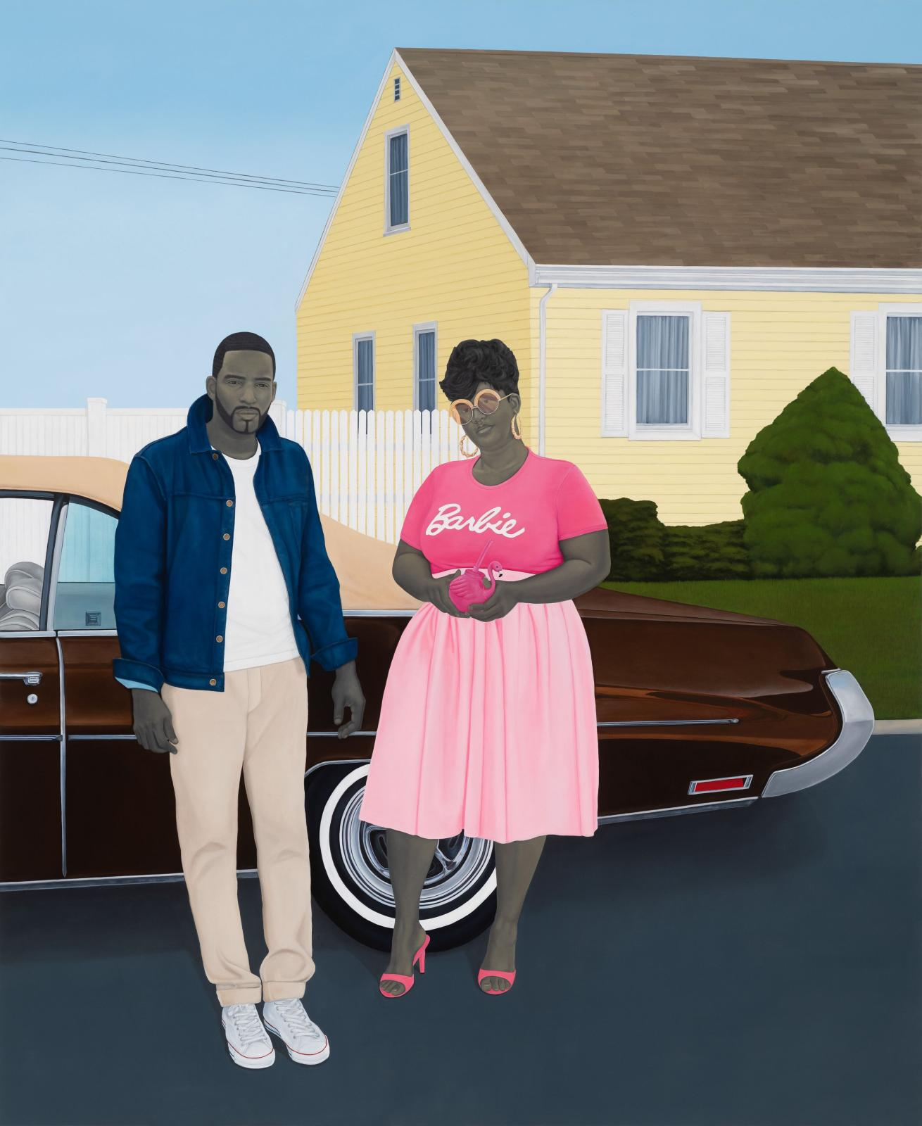 As American as Apple Pie, 2020, oil on canvas, 312.4 x 256.5 x 6.4 cm/123 x 101 x 2.51 in.© Amy Sherald. Courtesy the artist and Hauser &
