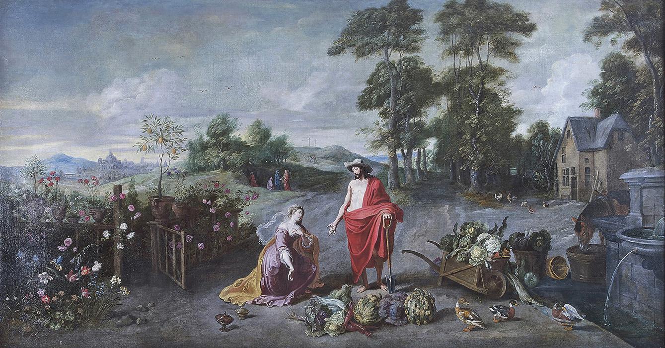 Les œuvres de JanII Bruegel(1601-1678) sont très rarement signées, mais le peintre est surtout connu pour ses natures mortes et ses pays