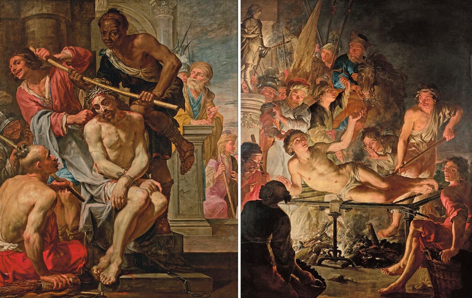 Les deux huiles sur toile de Jacques del'Ange (début du XVIIe-vers1644) n'étaient finalement pas vendues avec faculté de réunion, contra