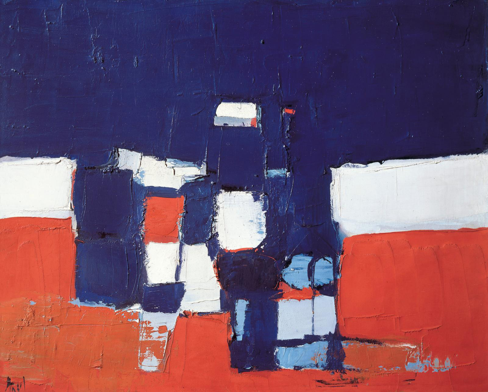 Nicolas de Staël, Les Footballeurs (The Football Players), 1952, Pierre Gianadda foundation collection.© Pierre Gianadda Collection