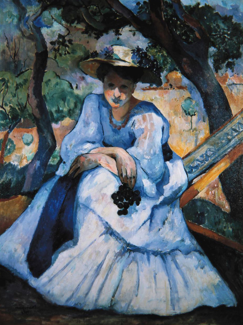 Henri Manguin, La Femme à la grappe (Woman with a Bunch of Grapes), 1905, Pierre Gianadda foundation collection.© Pierre Gianadda Collecti