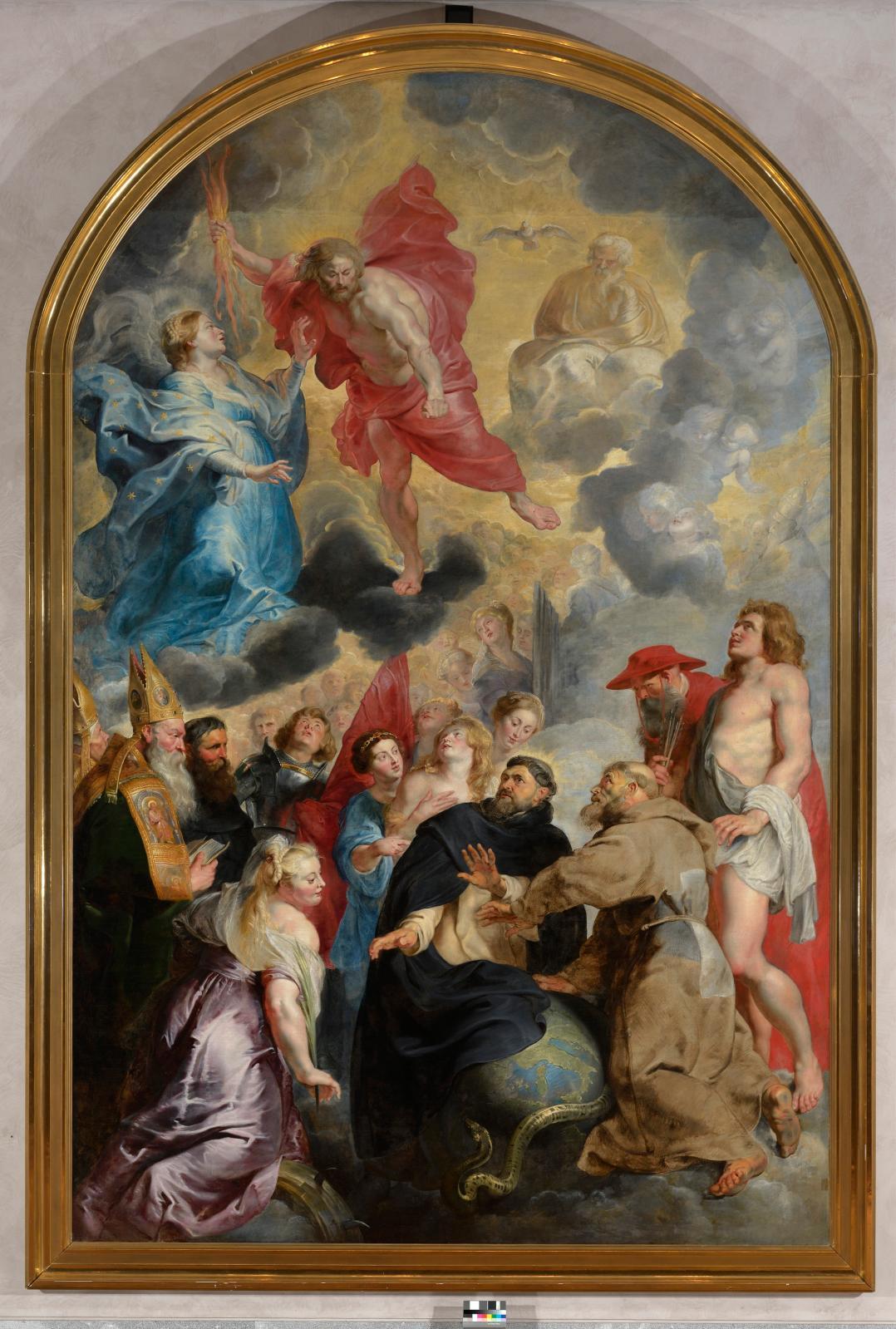 Pierre Paul Rubens (1577-1640), Saint Dominique et Saint François préservant le monde de la colère du Christ.