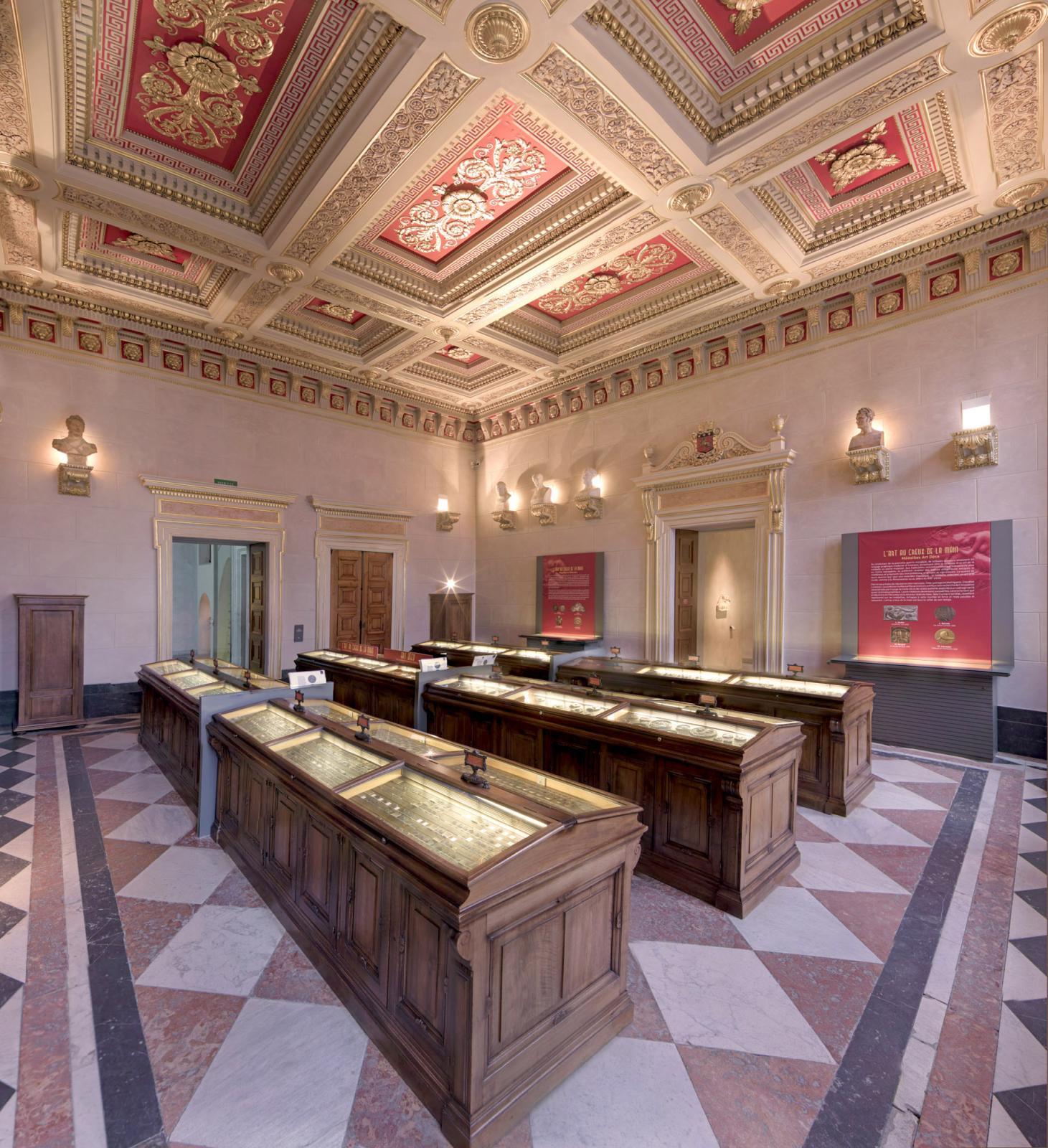 Le médaillier du musée des beaux-arts de Lyon.