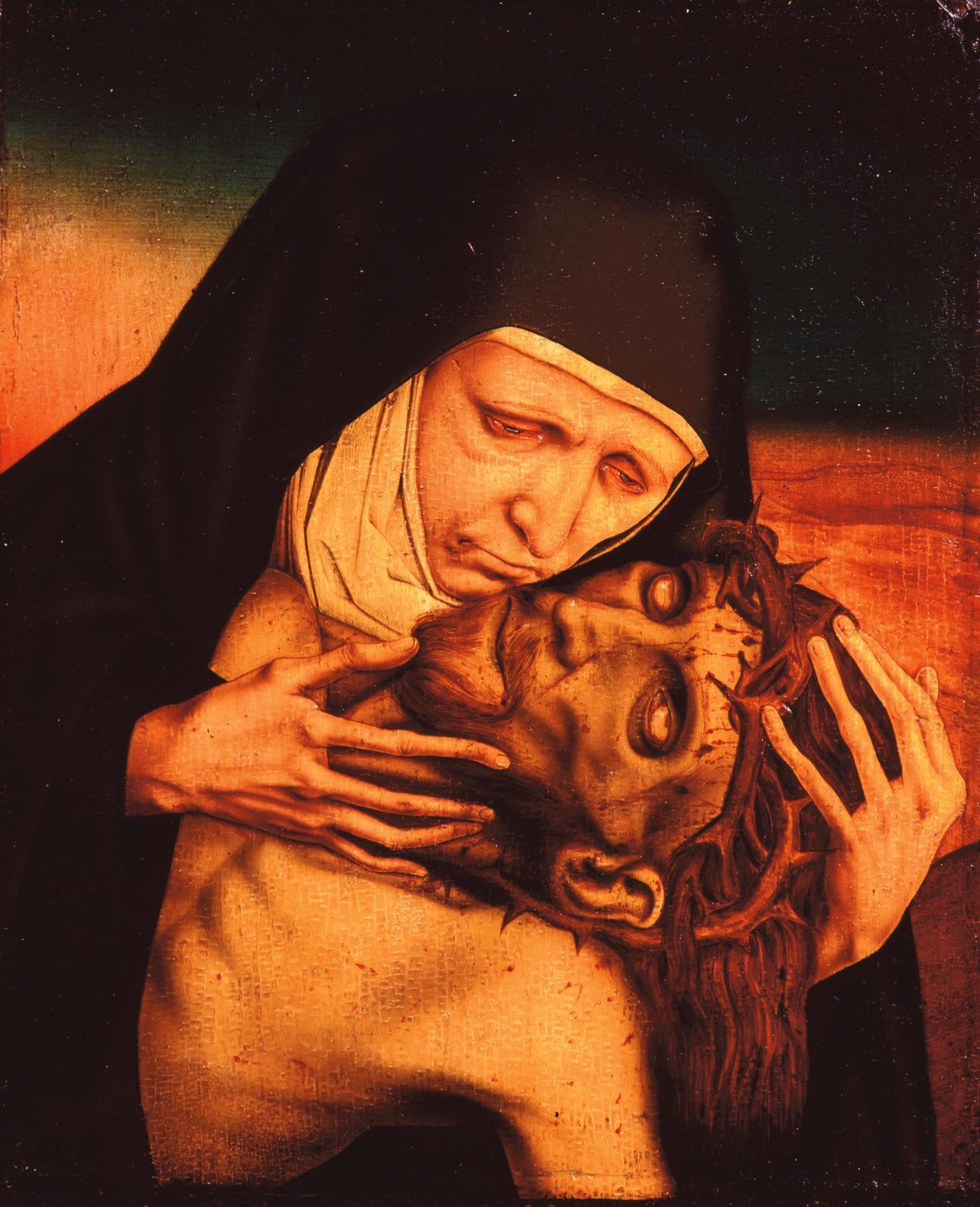 Le faussaire pathétique, Mater Dolorosa,vers 1930, huile sur bois, Pont-Saint-Esprit, musée d'art sacré du Gard.©Conservation départemen