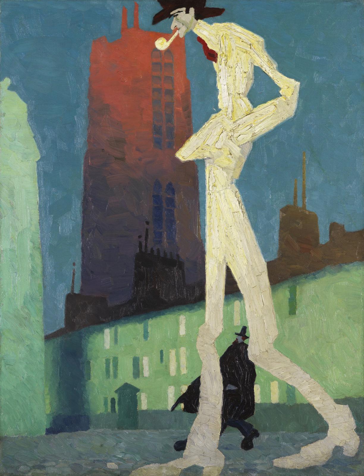 Lyonel Feininger, The White Man, 1907, huile sur toile, 68,3 x 52,3 cm. Collection Carmen Thyssen-Bornemisza en prêt au Museo Nacional Thy