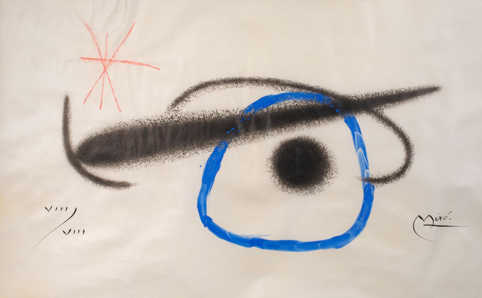 En 1949, Joan Miró (1893-1983) réalise un premier livre illustré à la typographie audacieuse et radicale. Une composition dansante, des co