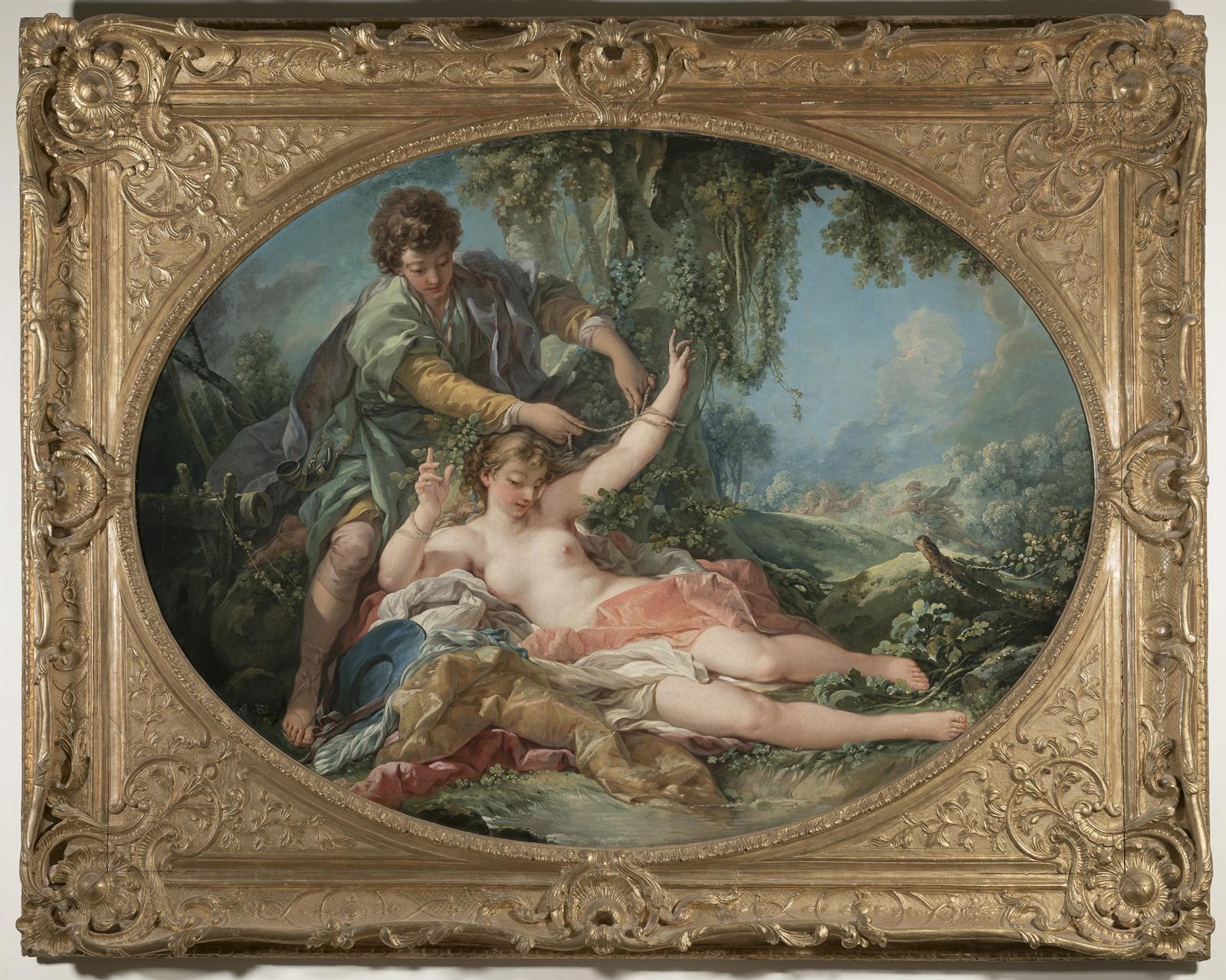 François Boucher, Aminte délivrant Sylvie surprise par un satyre, 1755.
