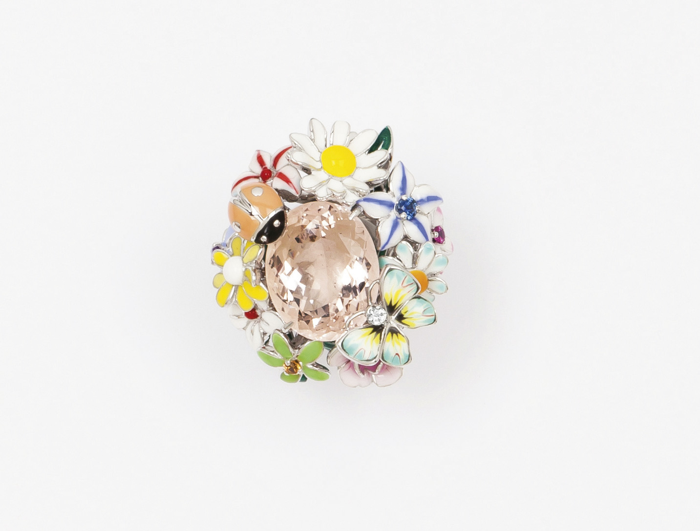 €5,376Victoire de Castellane (b. 1962) for Dior, Diorette ring, Milly-la-Forêt collection, in white gold with polychrome enamel flowers, l