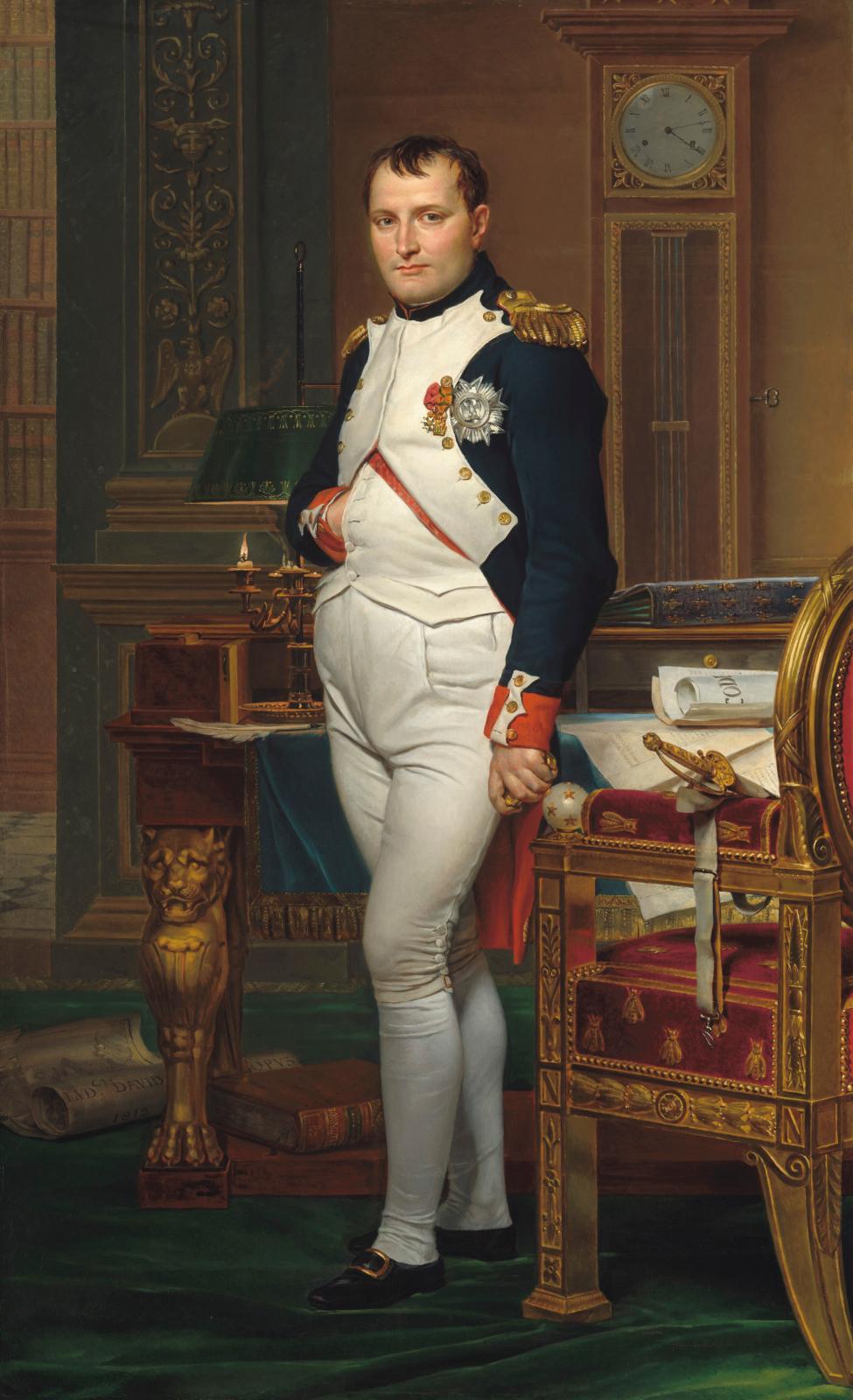 Jacques Louis David (1748-1825), Napoléon dans son cabinet de travail aux Tuileries, 1812, huile sur toile, 204x125cm, Washington, Nati