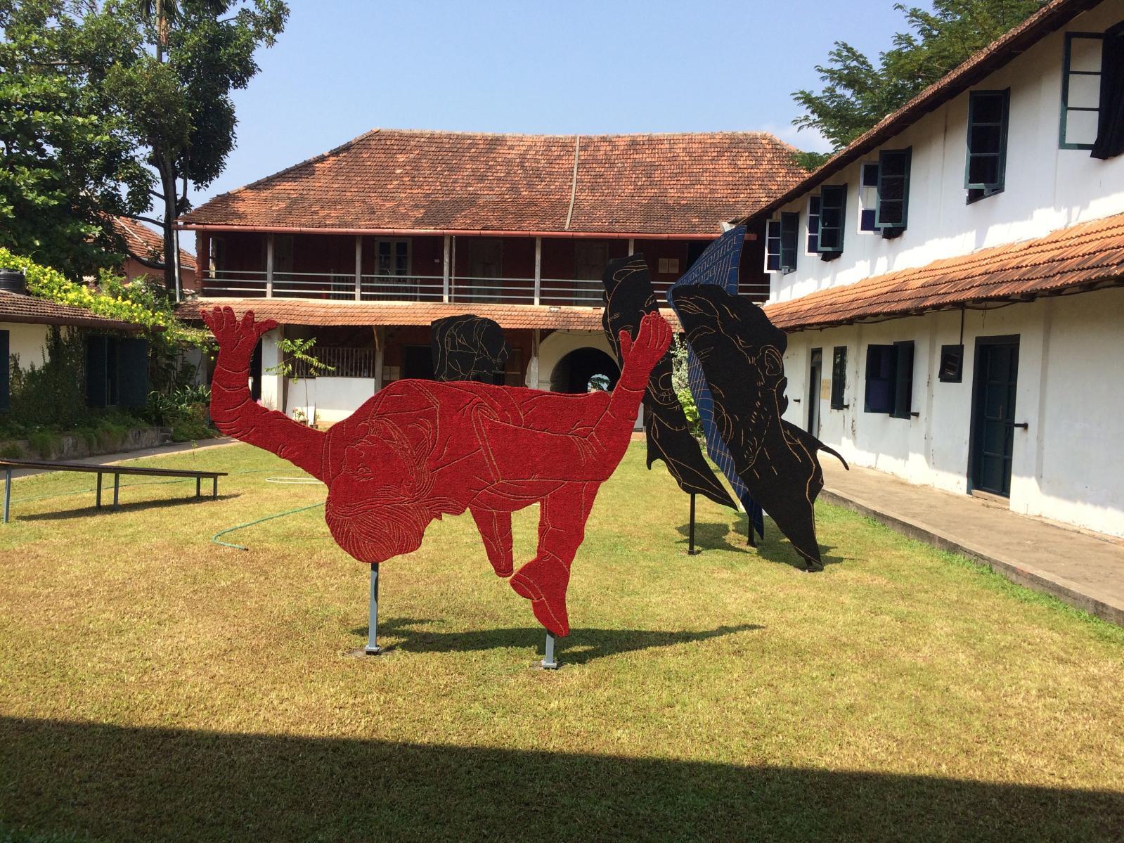 Installation view at Pepper House, Kochi-Muziris Biennale 2016, Praneet Soi's, 'Cut-Out Archive' (2016).Courtesy Kochi-Muziris Biennale