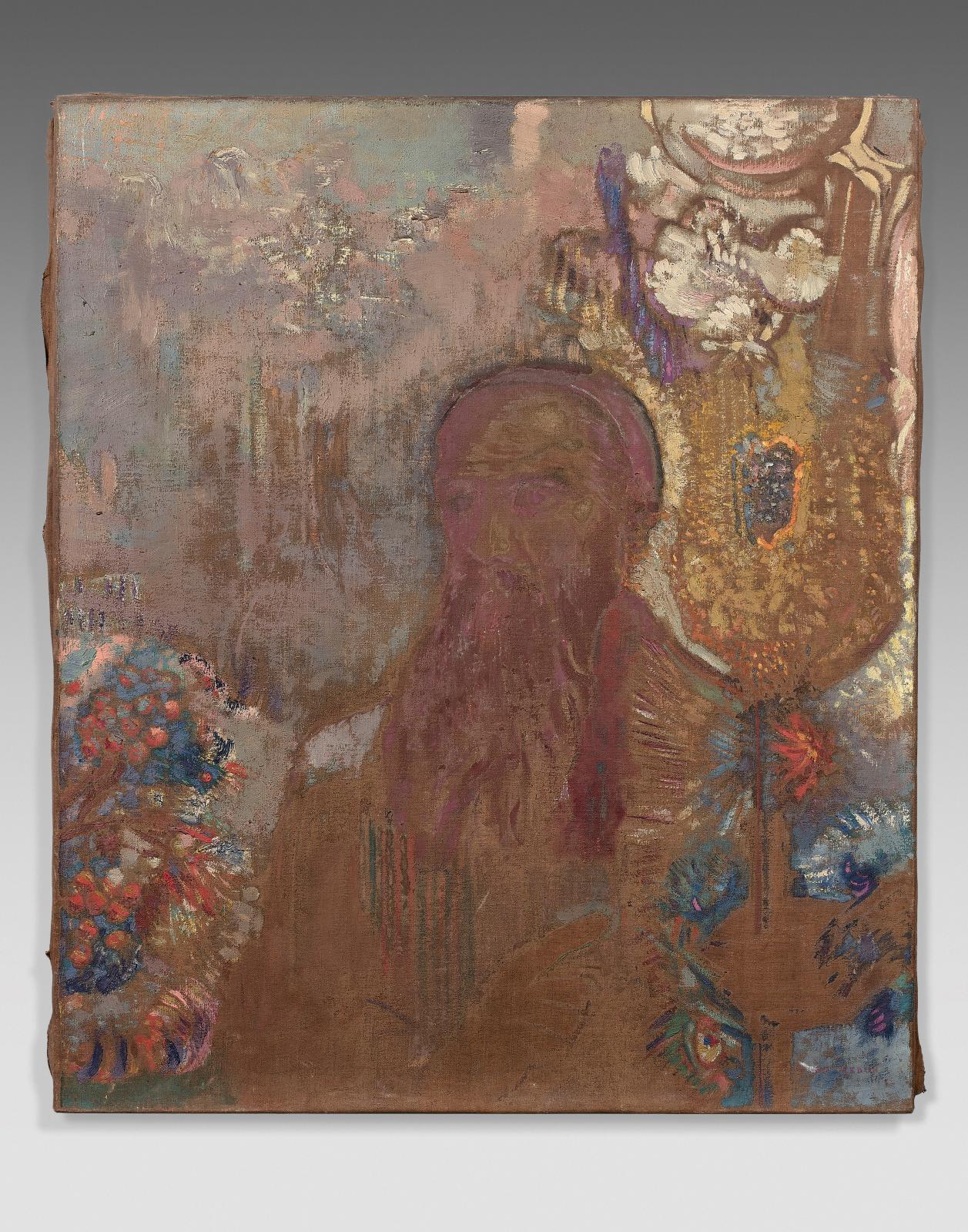 Odilon Redon, Le Prophète, huile sur toile, 54x46cm. Estimation: 40000/60000€