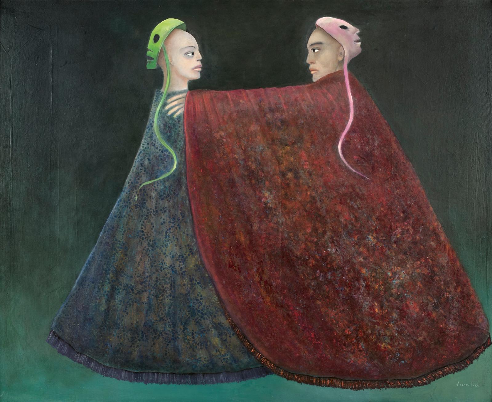 Leonor Fini (1908-1996), Les Apatrides (the stateless), 1994, oil on canvas, 81 x 100 cm/31.89 x 39.38 in.Estimate: €15,000/25,000