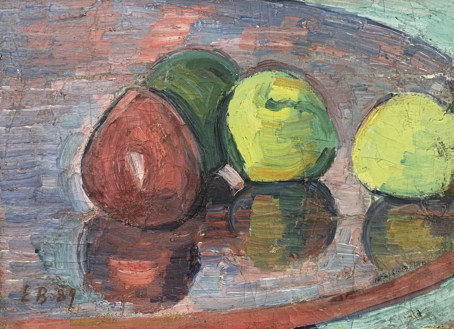 61 380€ : c'est la somme allouée à cette œuvre d'Émile Bernard (1868-1941), Nature morte aux pommes, toile signée et datée (18)«89». Elle