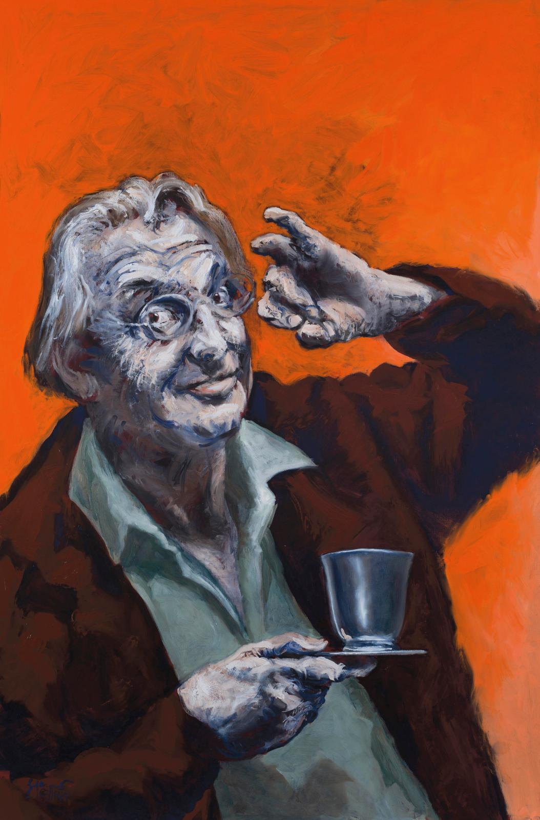 Gérard Garouste (né en 1946), Le Maître Panetier, Le Maître Échanson, 2016, huile sur toile, 195 x 270cm, diptyque (un panneau reproduit)