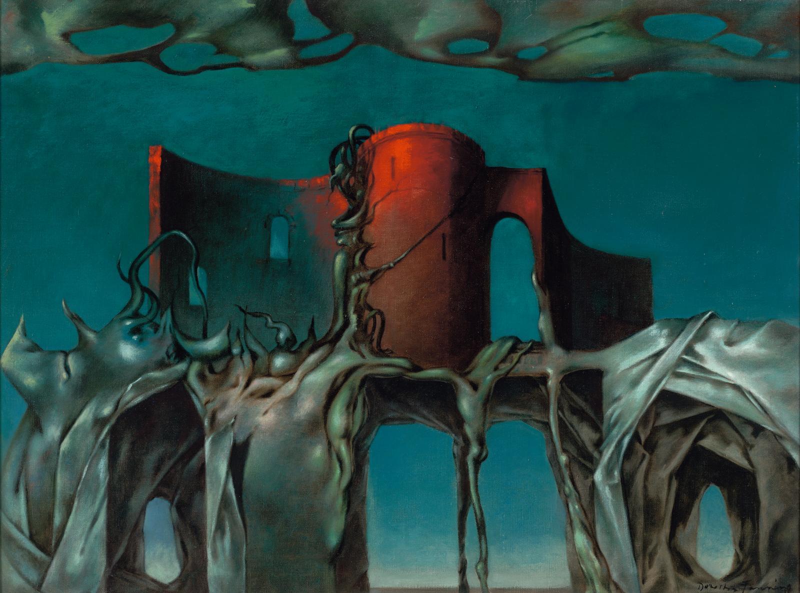 Dorothea Tanning, La Sorcière, 1950, huile sur toile, 46 x 61cm. Courtesy of Gallery Wendi Norris, San Francisco