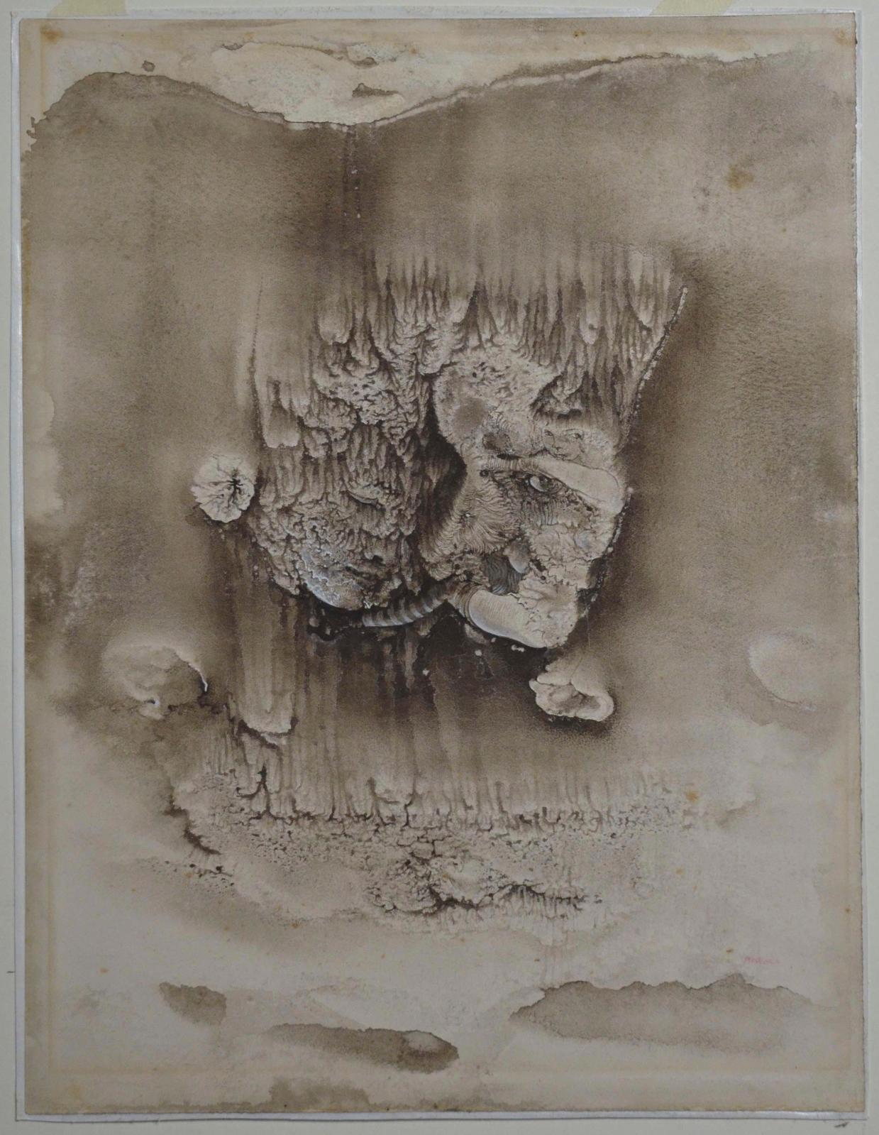 Hans Bellmer, Les Mariés, 1941,gouache sur papier, 32,5x24,9cm (détail).DR