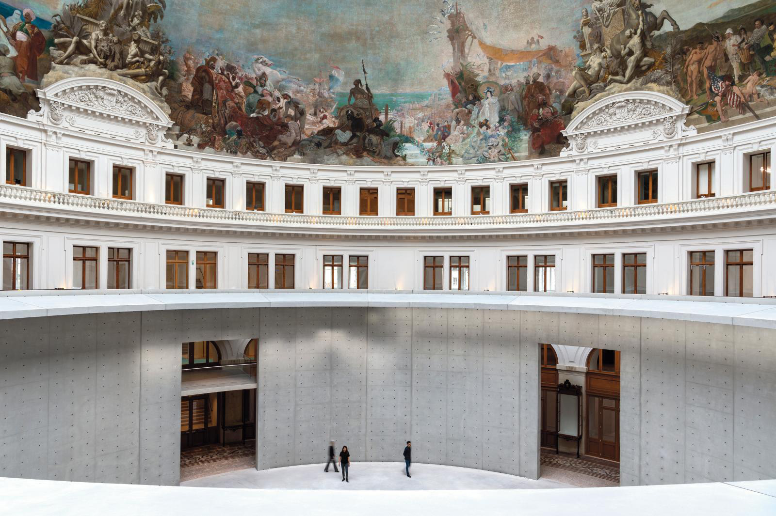 Bourse de Commerce - Pinault CollectionTadao Ando Architect & Associates, Niney & Marca Architectes, Agence Pierre-Antoine Gatier. Photo: