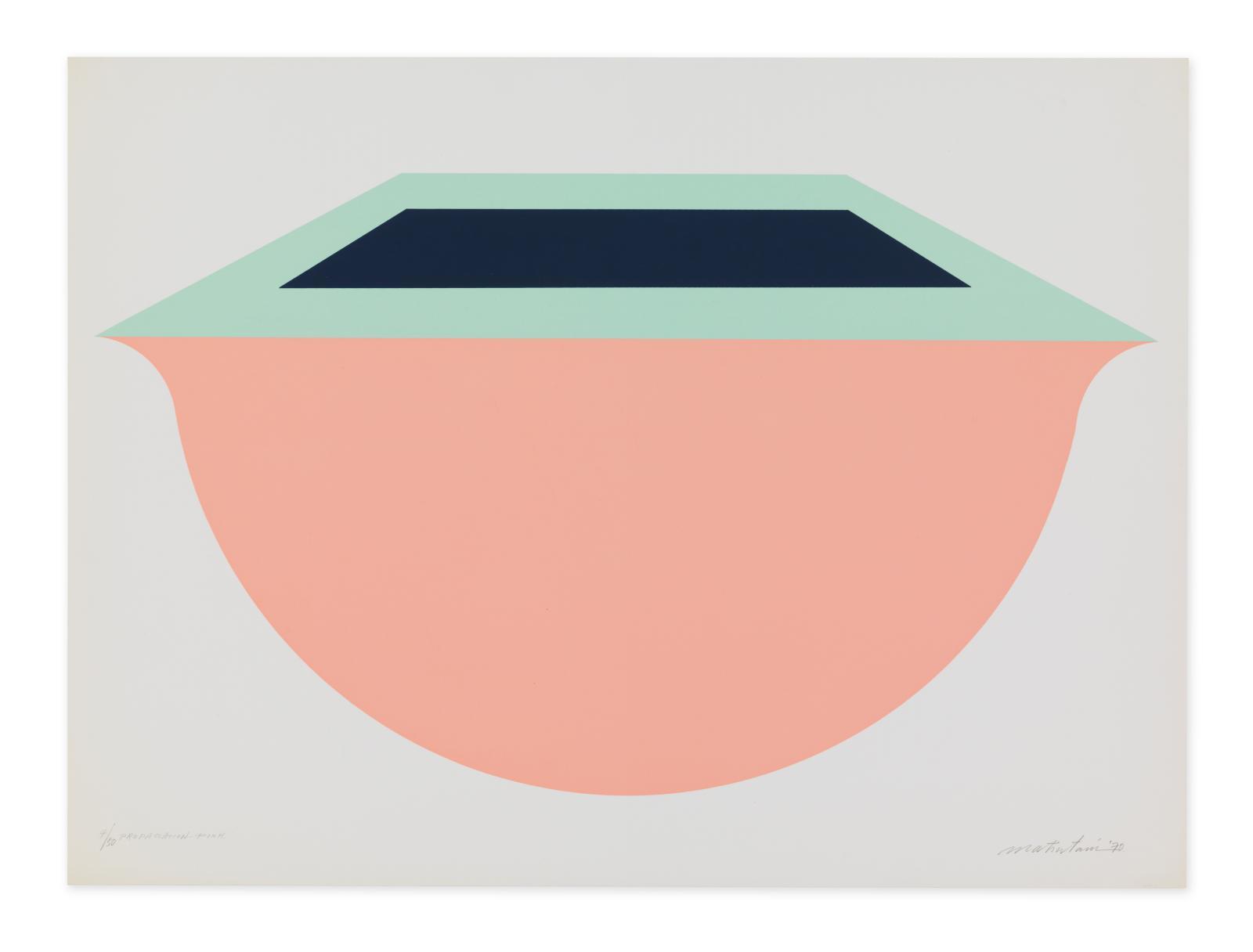 Takesada Matsutani(né en 1937), Propagation-Pink, 1970, sérigraphie sur papier offset, 56,3x78 cm, bibliothèque de l'Institut national