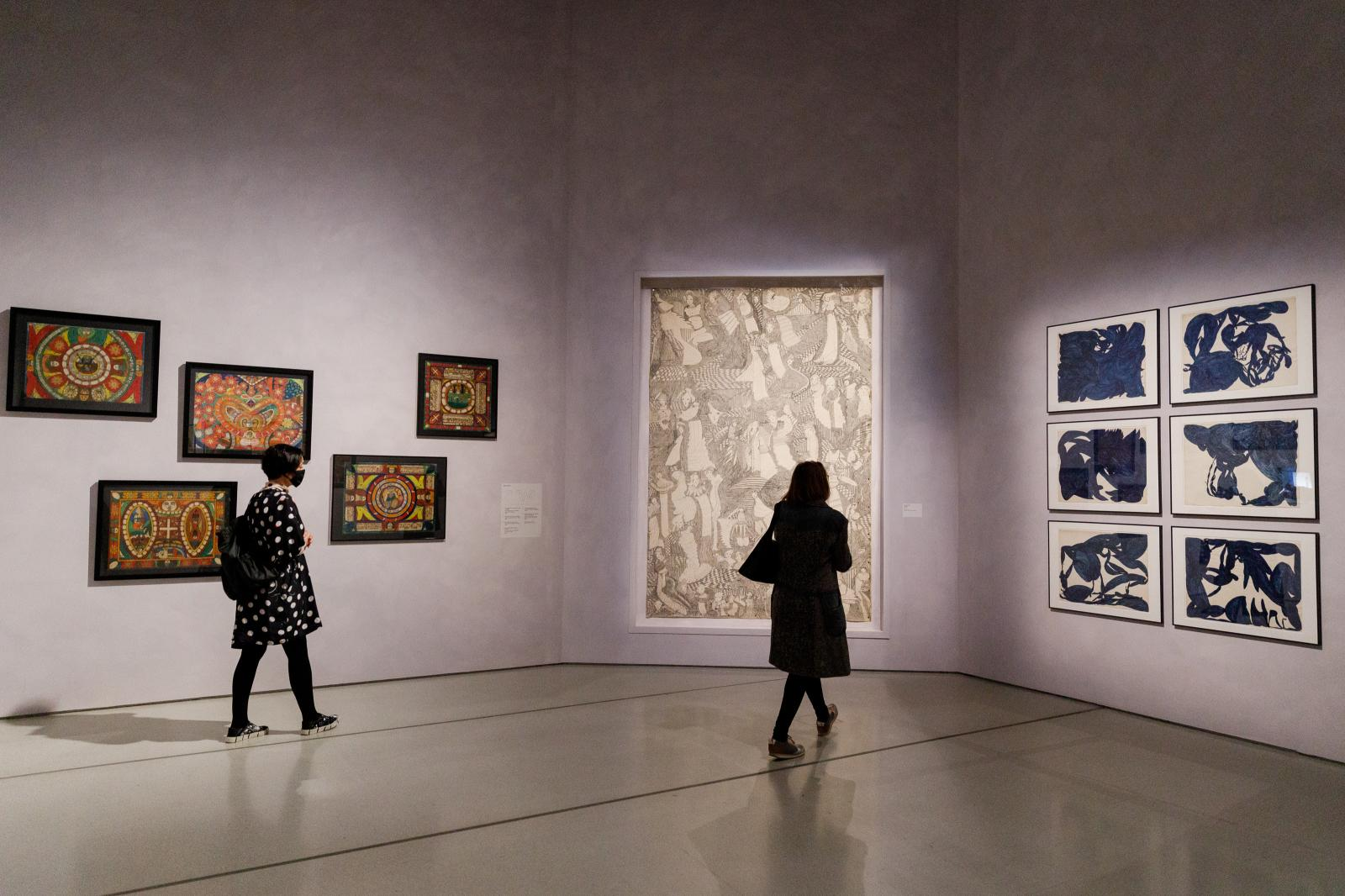 """""""Jean Dubuffet: Brutal Beauty"""", installation view at the Barbican Art Gallery, May 17–August 22, 2021© Tristan Fewings / Getty Images `"""