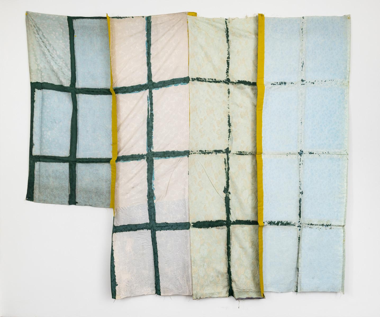 Patrick Saytour (b. 1935), Pliage (Folding), 1974, Tar on fabric, 298 x 298 cm/117.32 x 117.32 in.Image courtesy of Ceysson & Bénétière ©