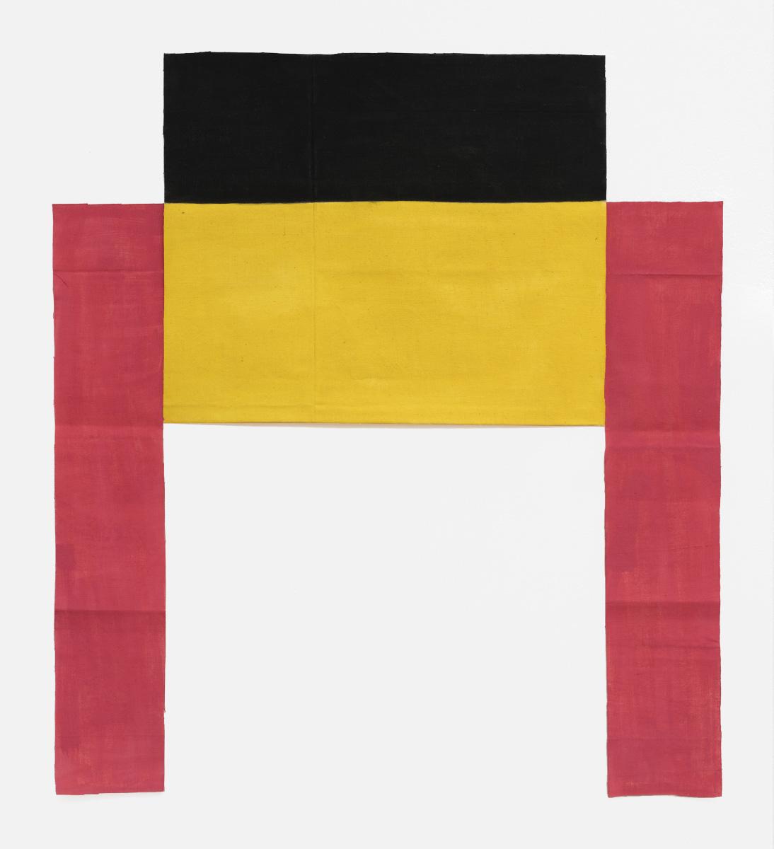 Louis Cane (b. 1943), Toile découpée (Cut Out Canvas), 1972, Acrylic on fabric, 98 x 91 cm/38.58 x 35.83 in.Image courtesy of Ceysson & Bé