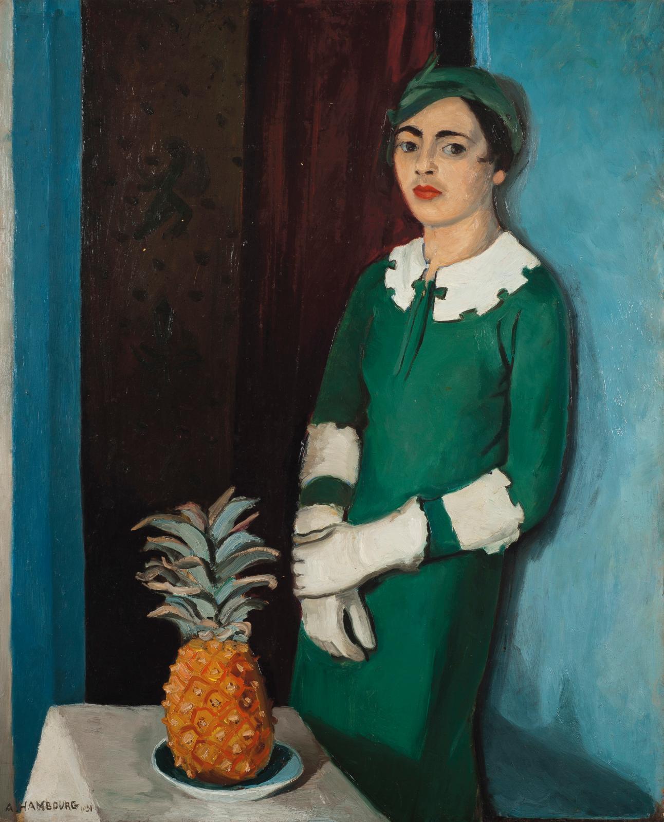 André Hambourg, La Femme à l'ananas, 1931.© ADAGP, Paris, 2021