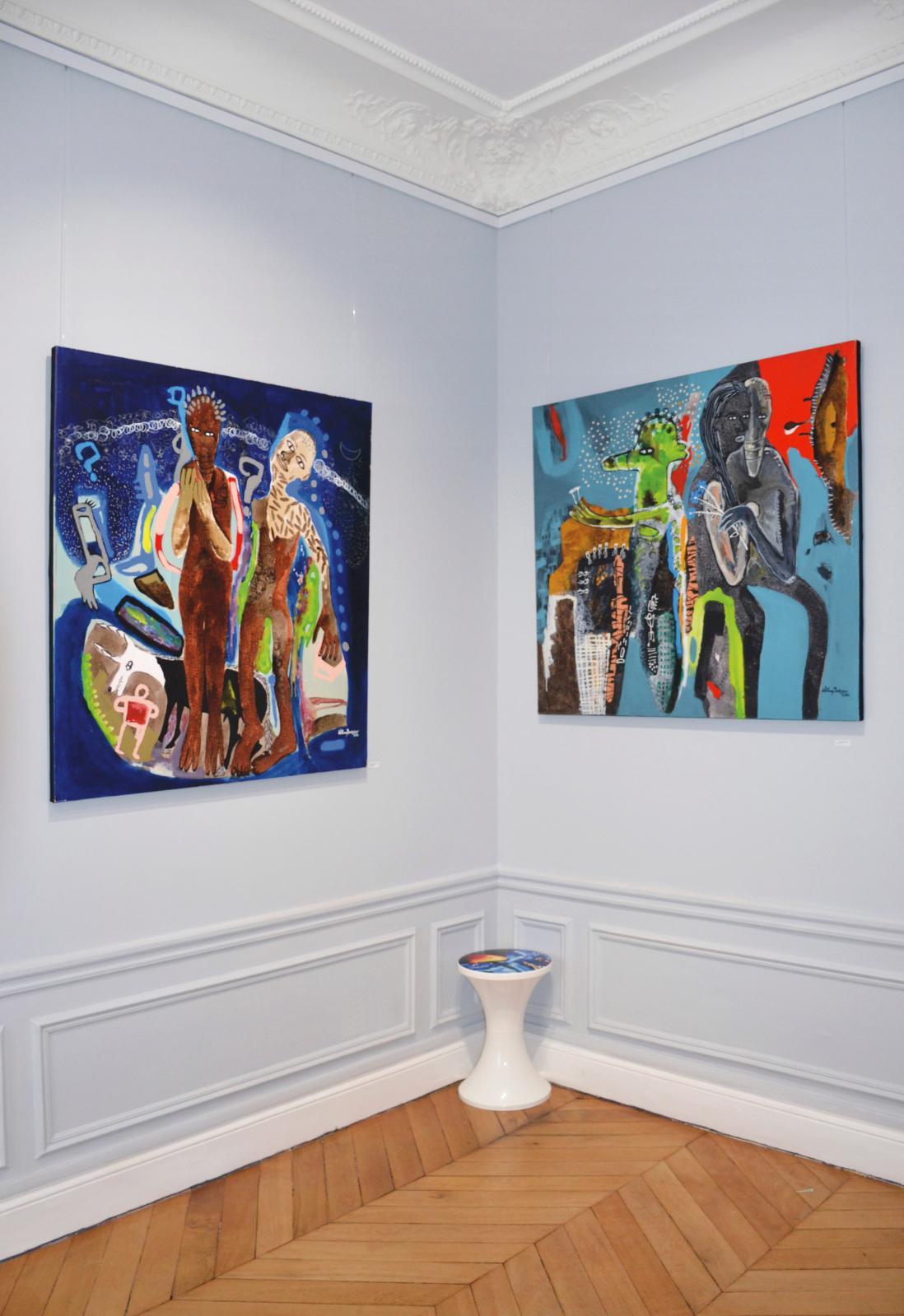 Œuvres de William Bakaïmo, exposition « Scène symphonique », 2021. © Renoma