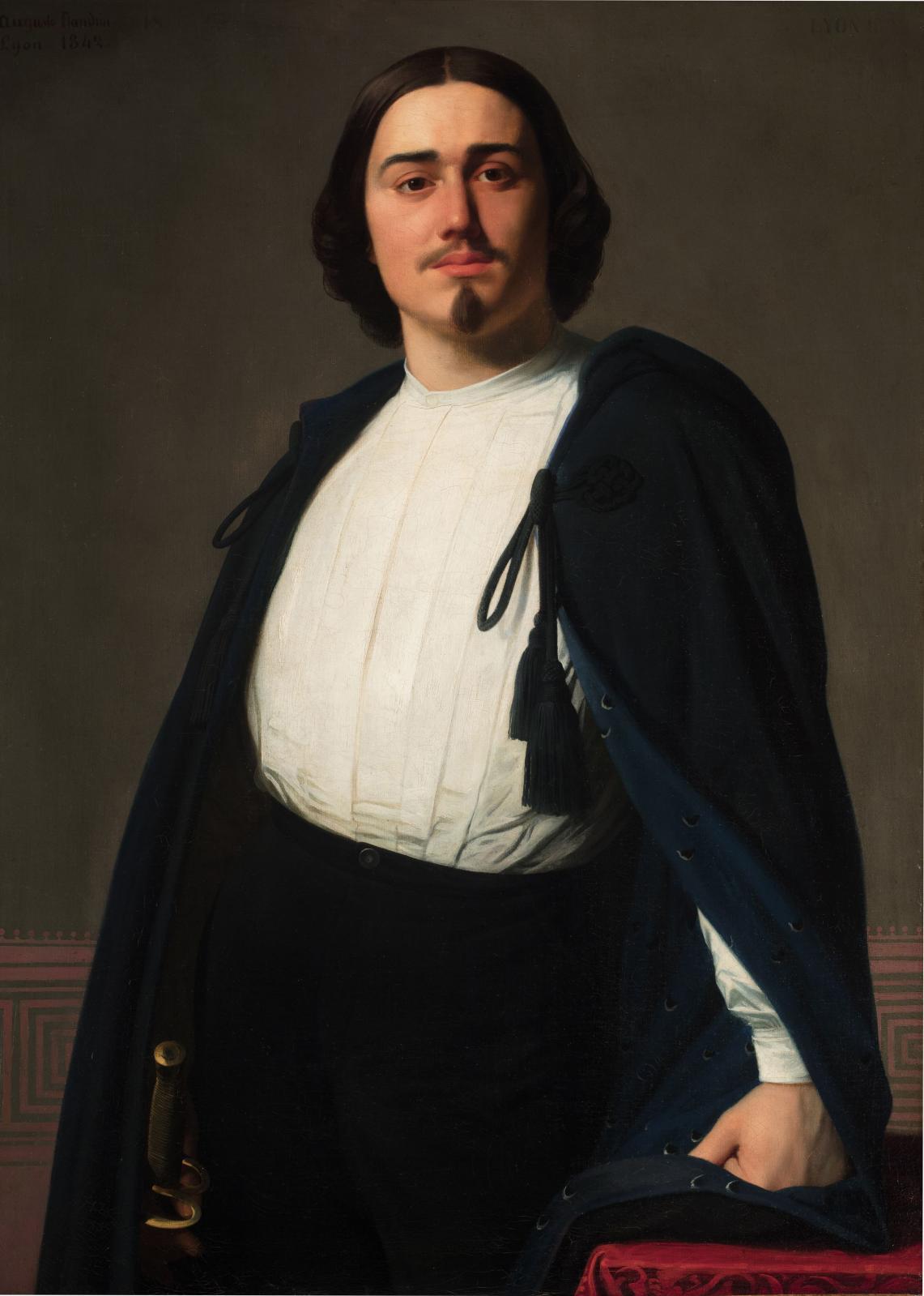 Auguste Flandrin (1804-1842), Alexis Champagne, 1842, Lyon Musée des Beaux-Arts.© Lyon MBA/Photo Martial Couderette