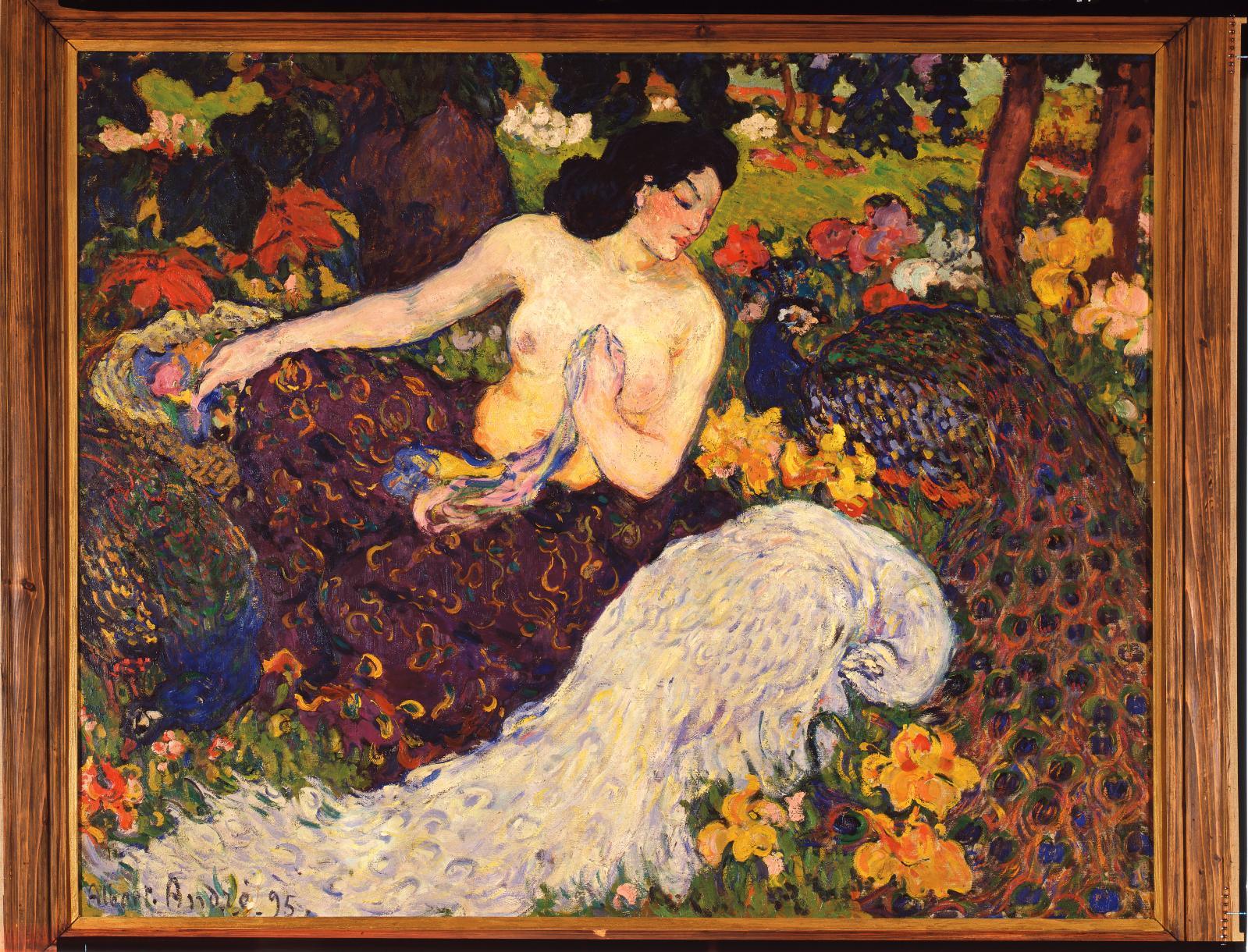 Albert André, Femme aux paons, 1895, huile sur toile (détail), collection particulière. Photo Archives Durand-Ruel. © Durand-Ruel & Cie