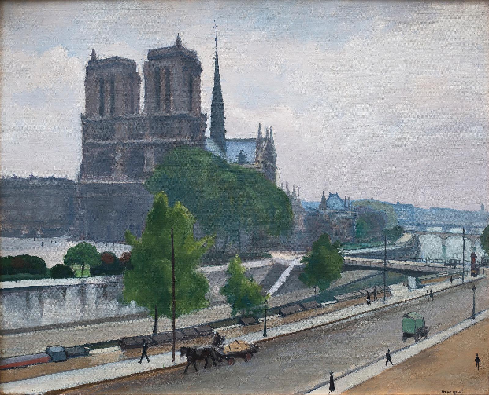 Albert Marquet (1875-1947), Notre-Dame, 1922, huile sur toile, 68 x 81 cm. Estimation: 120000/180000€