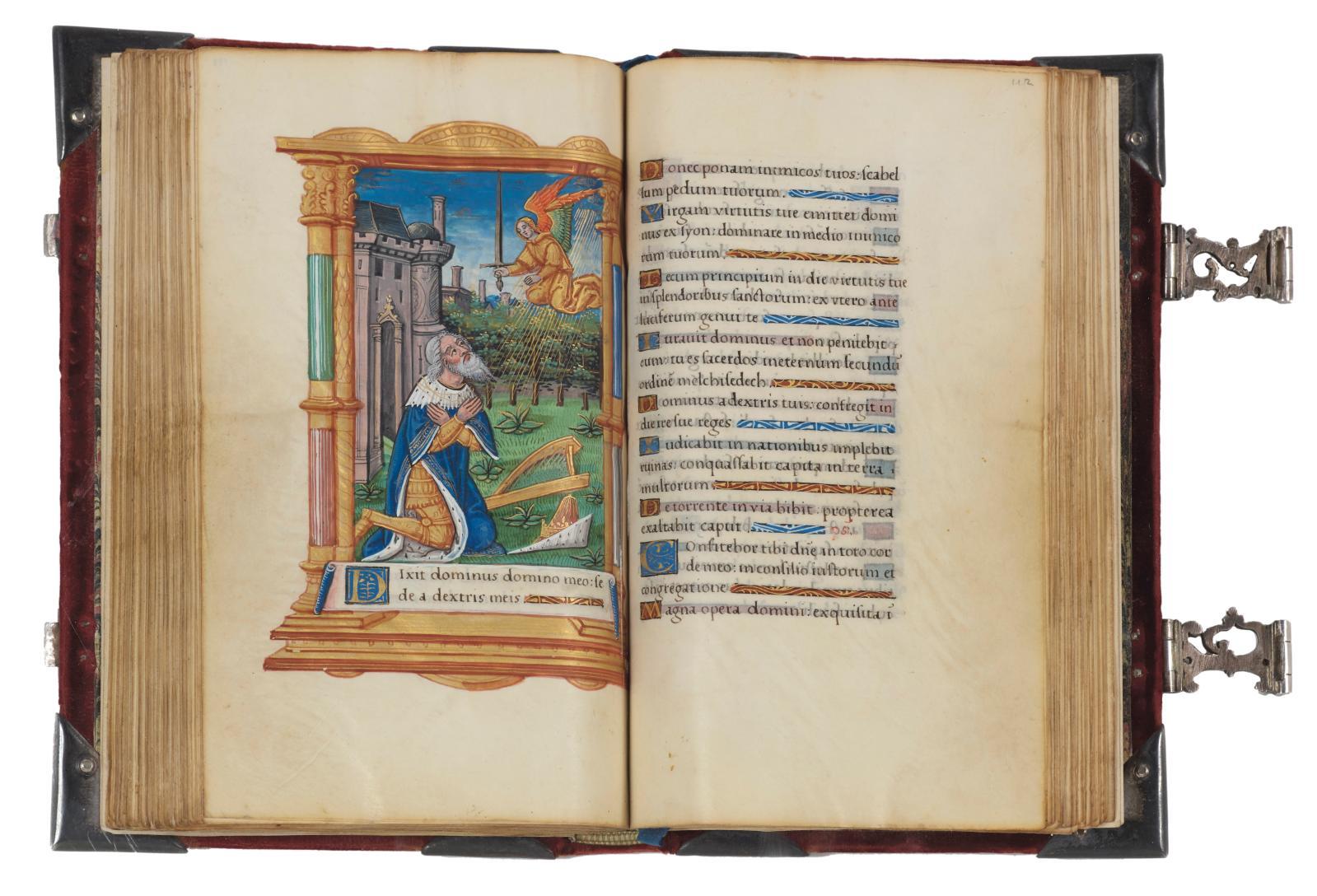 Paris, vers 1520-1530. Psautier férial en français, manuscrit enluminé sur parchemin, avec septgrandes miniatures par l'artiste désigné c