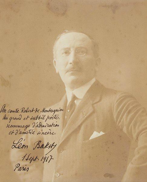 €3,500Léon Bakst (1866–1924), photograph with autograph dedication and L.A.S., Paris 1917–1921, to Robert de Montesquiou, 18 x 24 cm/7.08