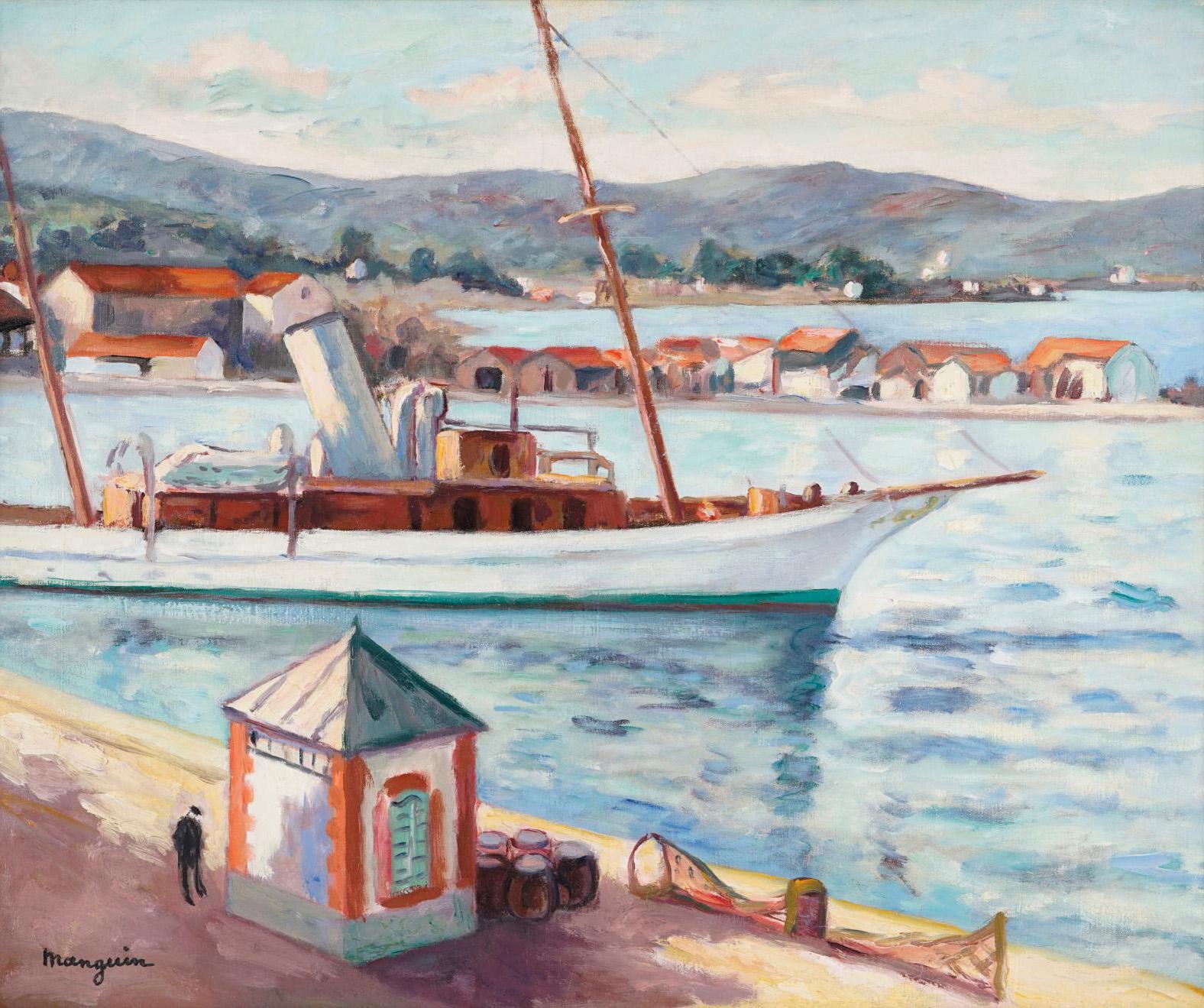Henri Manguin (1874-1949), Saint-Tropez, l'ancien bureau du port, été automne (Saint-Tropez: former harbor office, summer/autumn), 1927, o