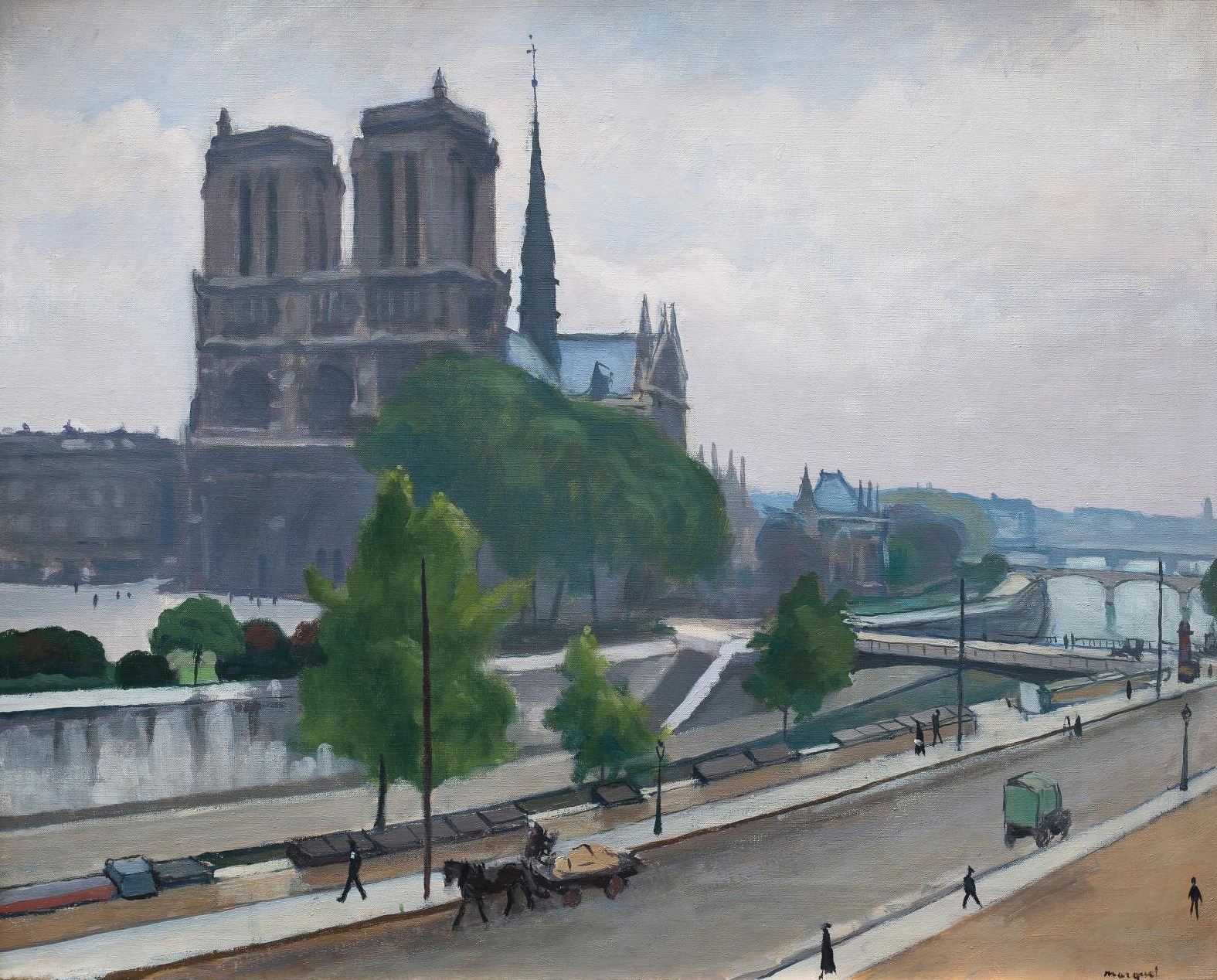 Albert Marquet (1875-1947), Notre Dame, 1922, oil on canvas, 68 x 81 cm/26.7 x 31.9 in.Estimate: €120,000/180,000