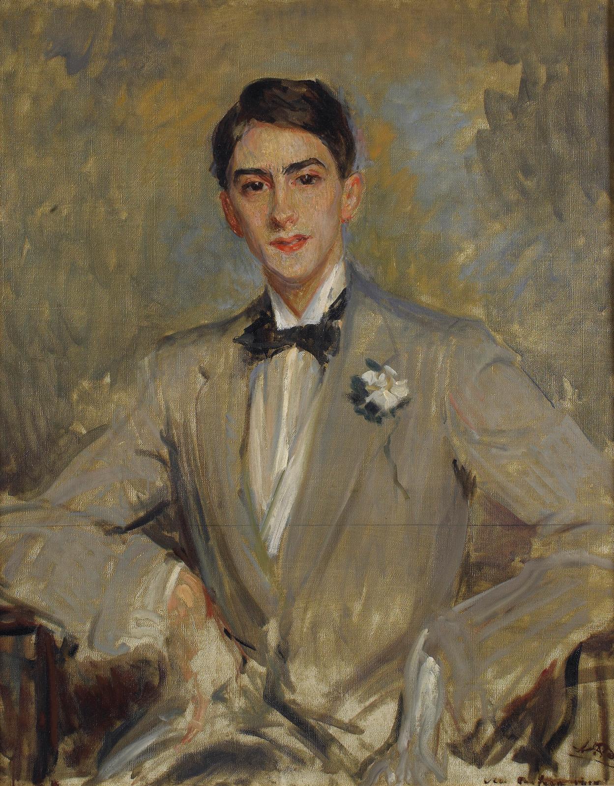 Jacques-Émile Blanche, Étude pour un portrait de Jean Cocteau, 1912, huile sur toile, 92x72,5cm. ©Réunion des Musées métropolitains de