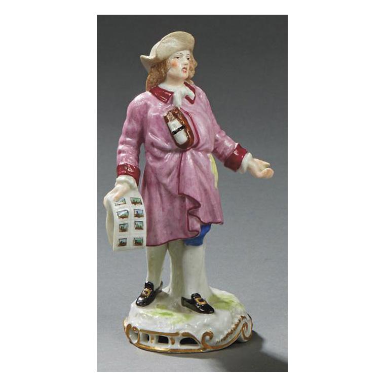 128€ Samson à Paris, fin du XIXesiècle, figurine représentant un petit métier dans l'esprit de la série des «Cris de Paris», h.15cm. D