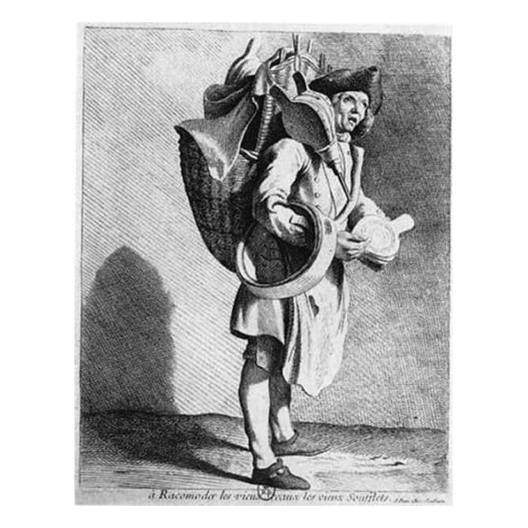 2422€ Edme Bouchardon(1698-1762), Études prises dans le bas peuple ou les Cris de Paris, à Paris, chez Joullain, 1737-1746, in-4o compl