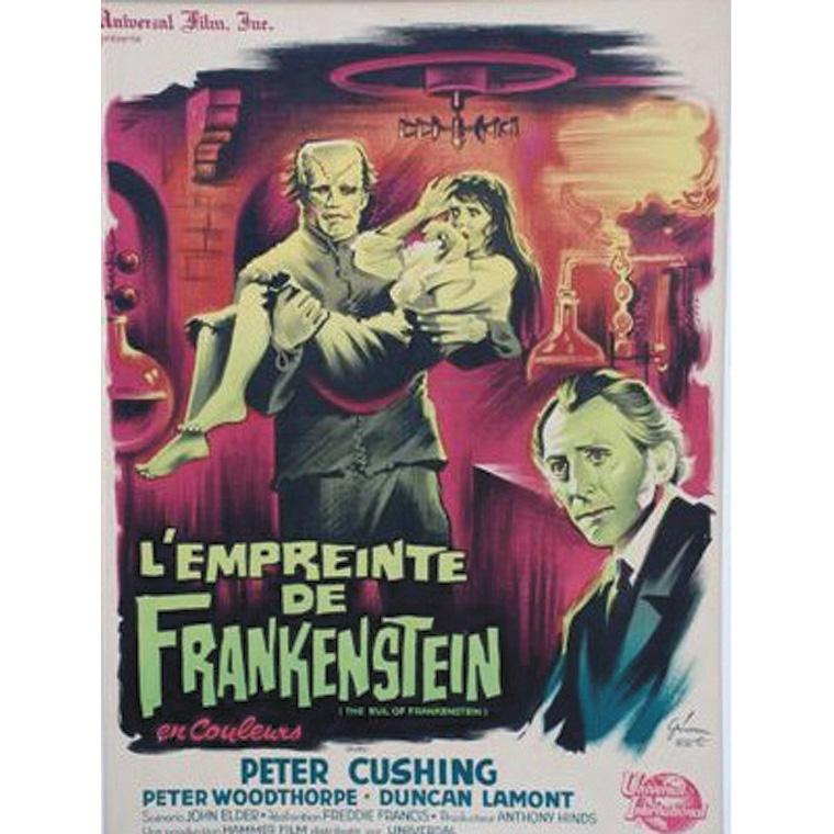 269€ L'Empreinte de Frankenstein, 1953, (Grinsson), avec P.Cushing, entoilée, 60x80cm.Salle des ventes Rossini, 11juin2010. Rossini