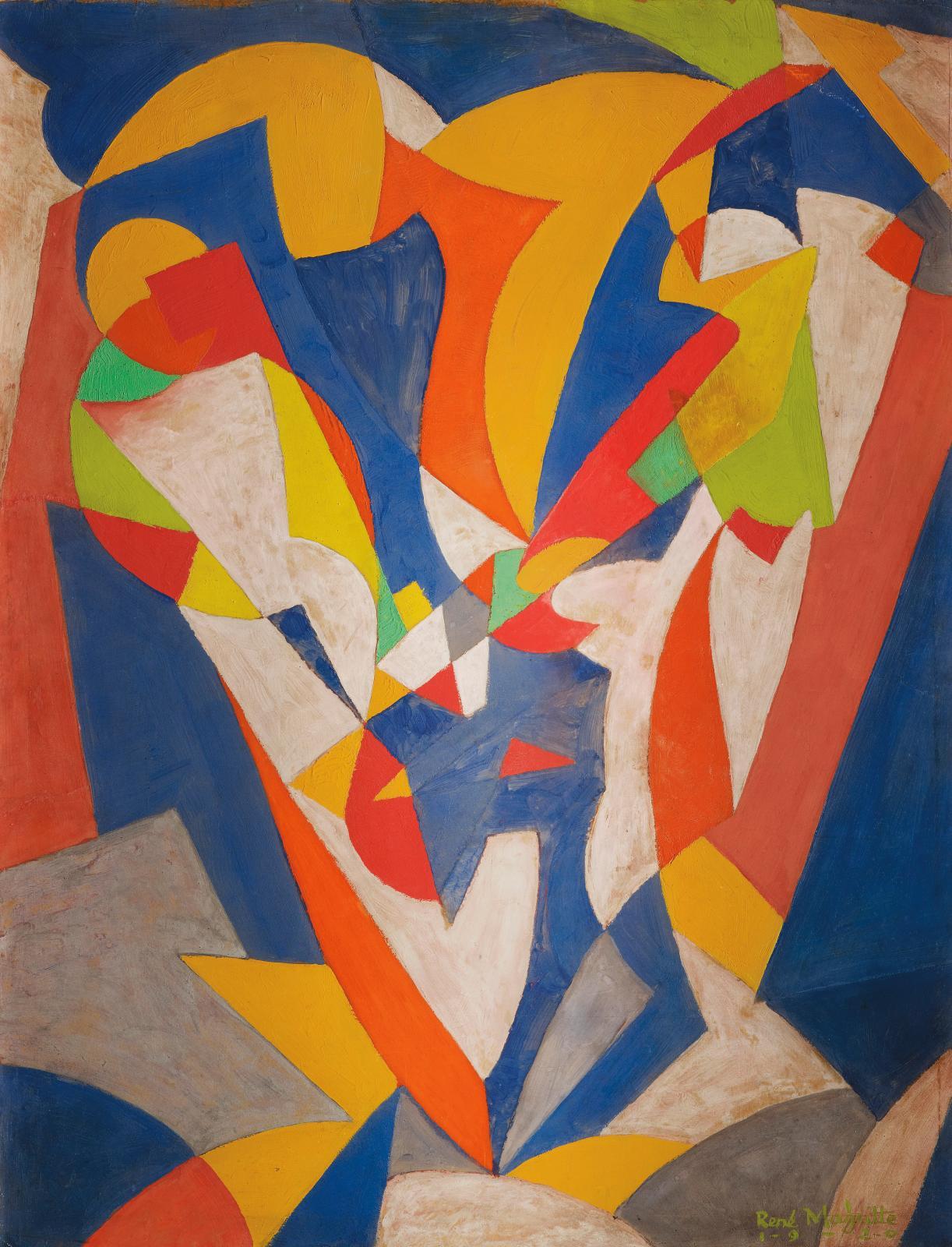 René Magritte, (1898-1967), Le Forgeron, 1920, collection Mu.ZEE. ©Sabam Belgium 2021