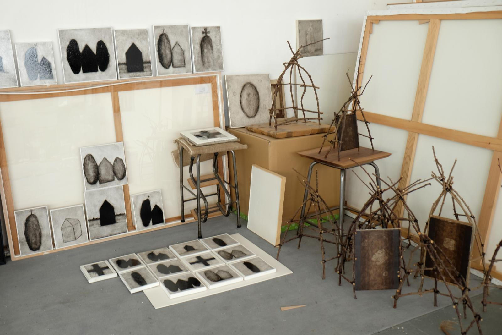 L'atelier de Loïc LeGroumellec, à Pantin.©Loïc Le Groumellec
