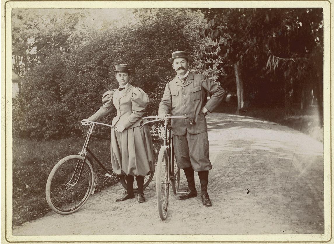 Henri et Jeanne Vever, amoureux de la petite reine.Photo DR, collection famille Vever